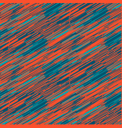 scribble strokes blue and red seamless pattern vector image