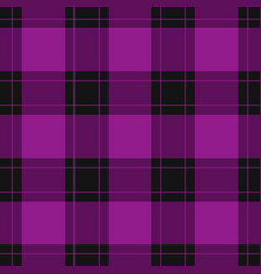 seamless black purple tartan with purple stripes vector image