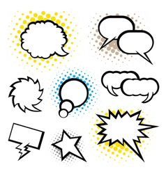 Set of speech bubble vector image