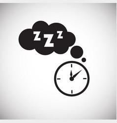 sleep time on white background vector image