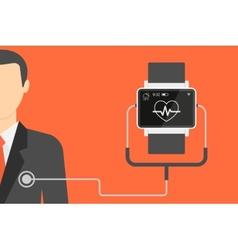 Smart wristwatch vector image