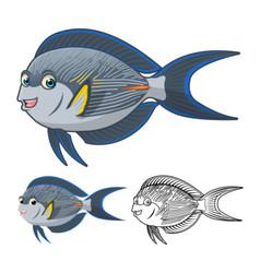 Sohal surgeonfish vector