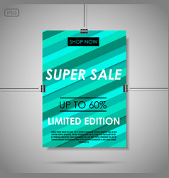 super sale background vector image