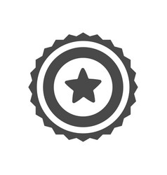 trophy icon with star isolated on white vector image