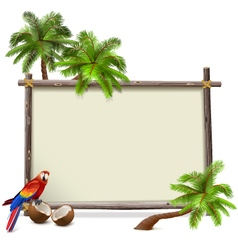 Tropics Frame vector image
