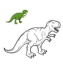 Tyrannosaurus Rex dinosaur coloring book vector