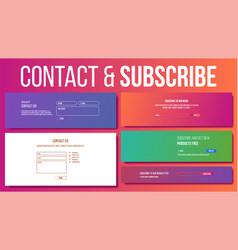 Website contact subscribe form modern vector