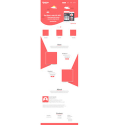 Website landing page template design vector