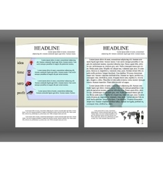 brochure template with layers and shadows vector image vector image