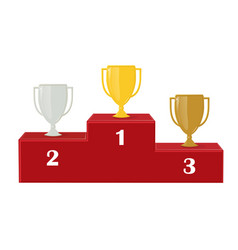 first second and third place vector image