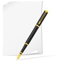ink pen 04 vector image vector image
