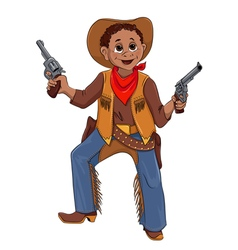 Little boy in the costume of Cowboy vector image vector image