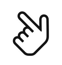 pointing hand icon vector image vector image