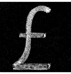 Pound sign on chalkboard vector image vector image