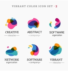 Set of trendy abstract vibrant and colorful icons vector image