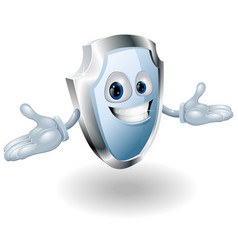 shield security character mascot vector image vector image