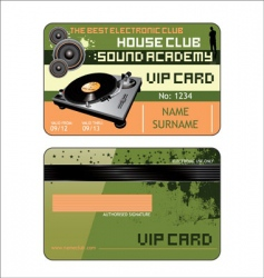 vip house club card vector image vector image