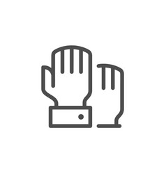 hand voting line icon vector image vector image