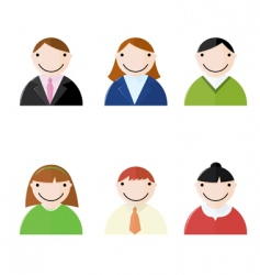 office people icons vector image vector image