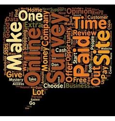 Online Survey Review text background wordcloud vector image vector image