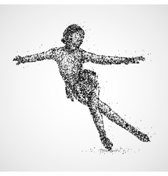 abstraction skating athlete vector image vector image