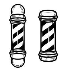 barber shop pole on white background vector image