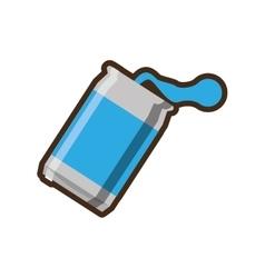 blue can soda liquid drink design vector image