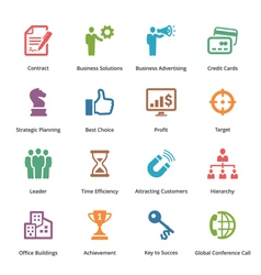 Business Icons Set 2 - Colored Series vector image
