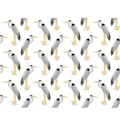 pattern of Heron vector image vector image