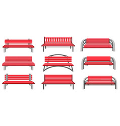 set park benches vector image vector image