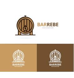 beer or wine barrel logo design template vector image vector image