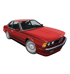 Bmw e24 6 series lt red large vector