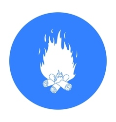 Campfire icon in black style isolated on white vector image vector image