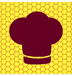 Chef cap Cooking Flat modern web button and space vector image vector image