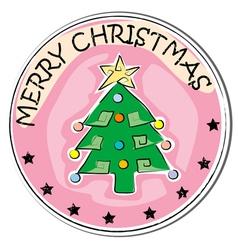 christmas tree retro vector image