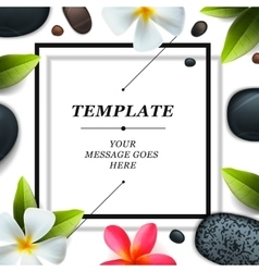 Health and beauty template spa concept vector image