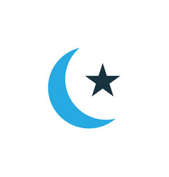 moon colorful icon symbol premium quality vector image
