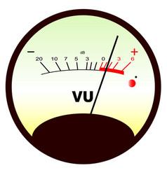 round vu meter vector image