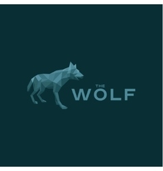 Wolf low poly poligonyn style vector