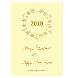 yellow greeting card for christmas - leaflet vector image vector image