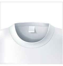 3d t shirt collar closeup white mockup vector image
