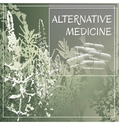 Alternative medicine theme vector