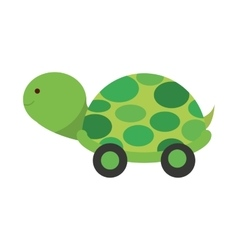 Baby toy turtle isolated icon design vector image