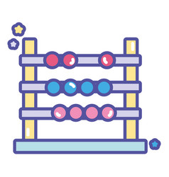 Back to school education abacus arithmetic learn vector