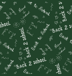 Back to school - pen sketch seamless background vector