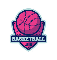 Basketball league vintage isolated label vector