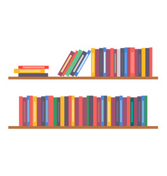 bookshelf with books simple icon vector image