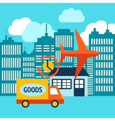 Business delivery 24h internet shopping service vector