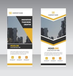 Business Roll Up Banner flat design templates set vector