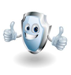 cartoon happy shield man vector image